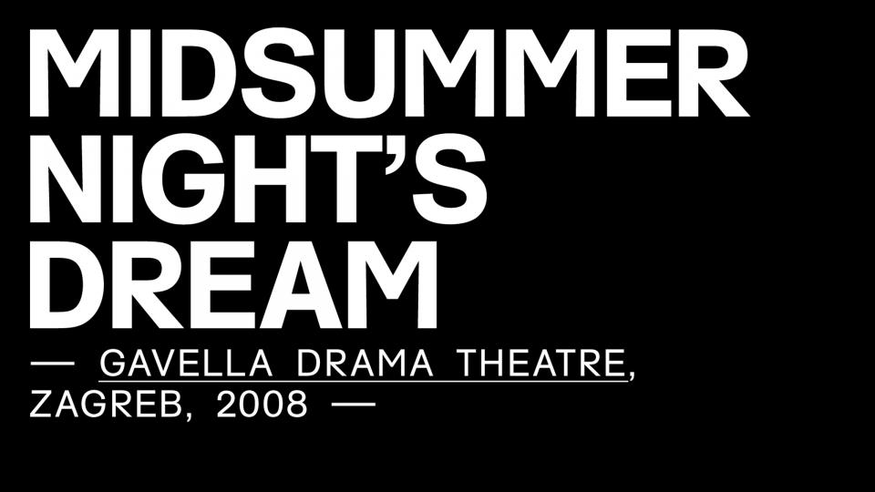 Scenography / A Midsummer Night´s Dream